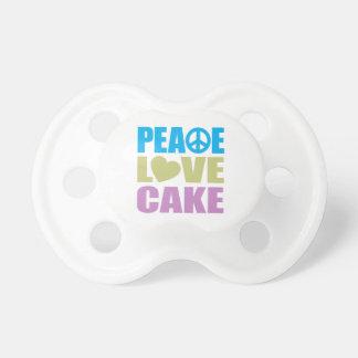 De Cake van de Liefde van de vrede Fopspeen