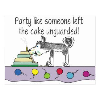 De Cake van de partij Briefkaart