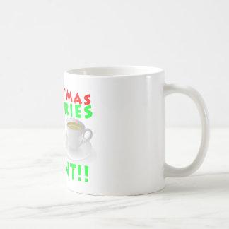 De Calorieën van Kerstmis tellen Grappige geen Koffiemok