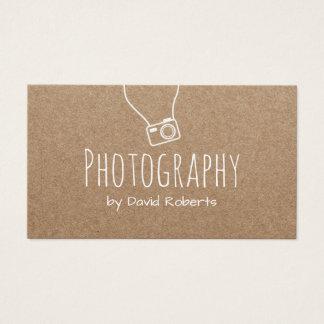 De Camera Rustiek Kraftpapier van de Fotograaf van Visitekaartjes