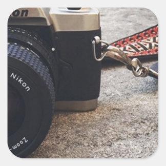 De Camera van de Film van Nikon Vierkante Sticker
