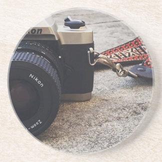 De Camera van de Film van Nikon Zandsteen Onderzetter
