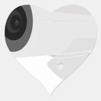 De Camera van de veiligheid Hart Sticker