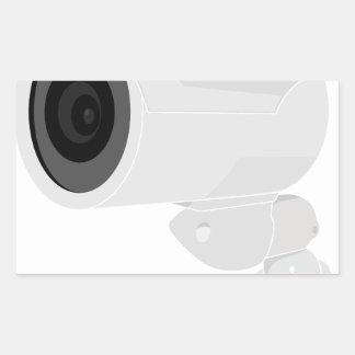 De Camera van de veiligheid Rechthoekige Sticker