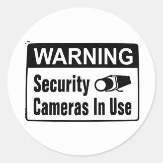 De Camera van de Veiligheid van de waarschuwing in Ronde Sticker