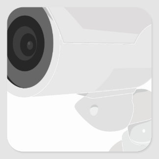 De Camera van de veiligheid Vierkante Sticker