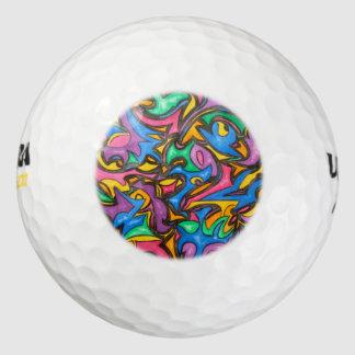 De camouflage-hand schilderde Abstract Patroon Golfballen