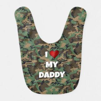 """De camouflage """"I de Slab van het Baby houdt van Baby Slabbetjes"""
