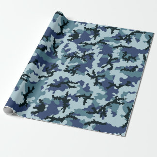 De camouflage van de marine inpakpapier