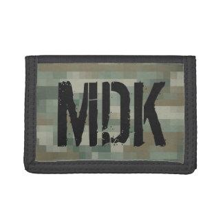 De camouflageportefeuille met monogram van het