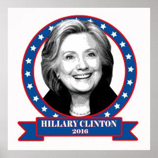 De campagneaffiche van Hillary Clinton 2016 Poster