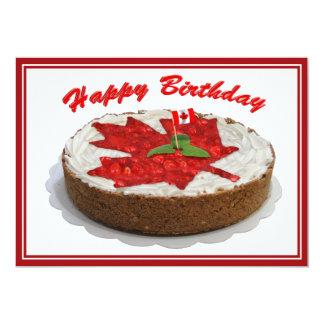 De Canadese Cake van het Blad van de Esdoorn van Kaart