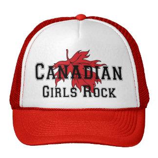 De Canadese Meisjes schommelen T-shirt Petten Met Netje