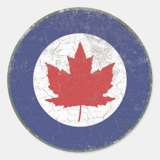 De Canadese Plattelander van Roundel van het Blad Ronde Sticker
