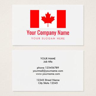 De Canadese sjabloon van het het logovisitekaartje Visitekaartjes