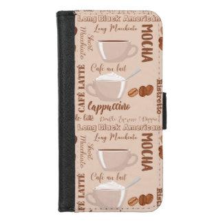 De Cappuccino's van Latte van de Koffie van de iPhone 8/7 Portemonnee Hoesje