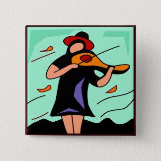 De capricieuze Knoop van de Muziek van de Viool Vierkante Button 5,1 Cm