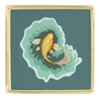 De capricieuze Vissen van Koi van de Goudvis Vergulde Reverspeld