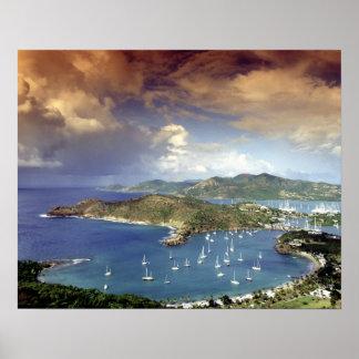 De Caraïben, Antigua. Poster