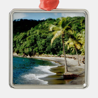 De Caraïben, Kleinere Antillen, de Antillen, Zilverkleurig Vierkant Ornament
