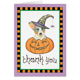 De Cardigan Welse Corgi van Halloween Kaart