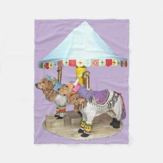 De Carrousel van het golden retriever Fleece Deken