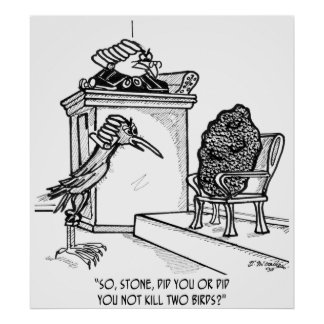 De Cartoon 2021 van de vogel Poster