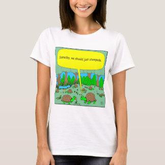 de cartoon van de 373 schildpadstormloop t shirt