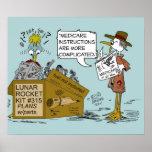 De Cartoon van de Grap van gezondheidszorg voor be Plaat