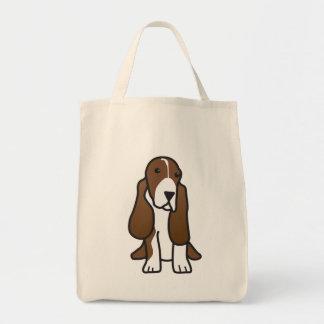 De Cartoon van de Hond van Basset Hound Draagtas