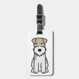 De Cartoon van de Hond van de Fox-terrier van de d Kofferlabel