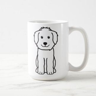 De Cartoon van de Hond van Goldendoodle Koffiemok