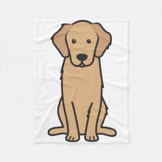De Cartoon van de Hond van het golden retriever Fleece Deken