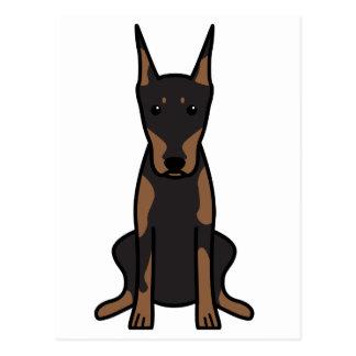 De Cartoon van de Hond van Pinscher van Doberman Briefkaart