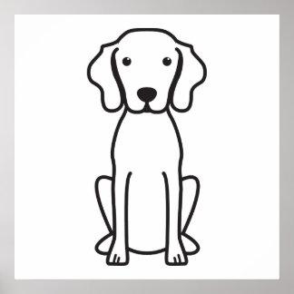 De Cartoon van de Hond van Vizsla Poster