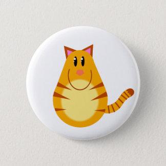 De Cartoon van de Kat van de gestreepte kat Ronde Button 5,7 Cm
