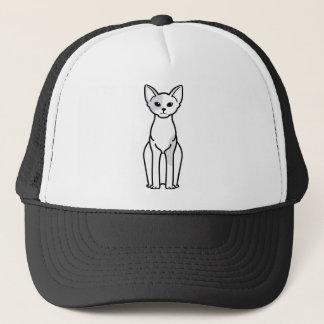De Cartoon van de Kat van Devon Rex Trucker Pet