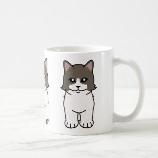 De Cartoon van de Kat van Munchkin Koffiemok