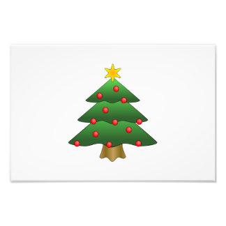 De cartoon van de kerstboom foto prints