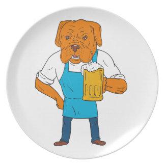 De Cartoon van de Mascotte van de Mok van de Melamine+bord