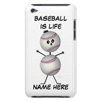 De Cartoon van de Speler van het honkbal iPod Touch Hoesje