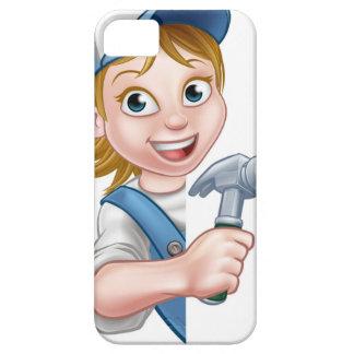De Cartoon van de Timmerman van de Bouwer van de Barely There iPhone 5 Hoesje