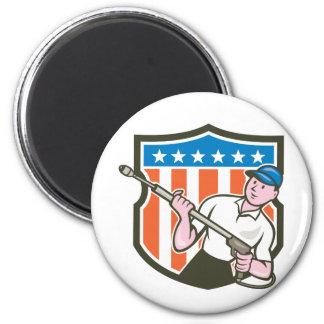 De Cartoon van de Vlag van de V.S. van de Ronde Magneet 5,7 Cm