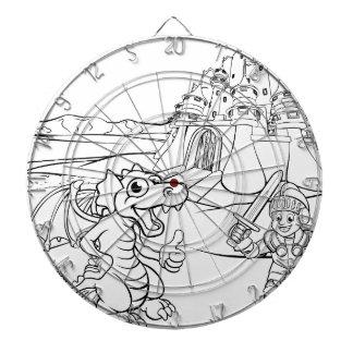 De Cartoon van het Kasteel van de draak en van de Dartbord