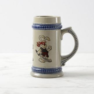 de cartoon van het ninjakonijn bierpul