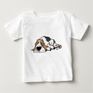 De cartoonhond van Basset Hound Baby T Shirts
