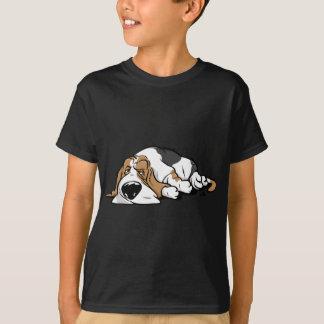 De cartoonhond van Basset Hound T Shirt