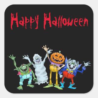 De cartoonschepselen die van Halloween, stickers