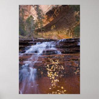 De cascades van de aartsengel in de LinkerVork van Poster