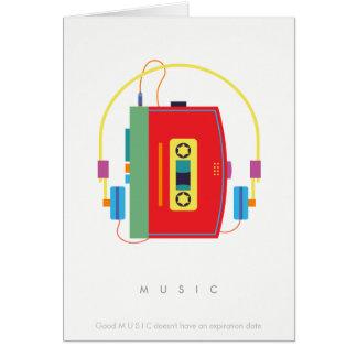 De cassettespeler van de walkman, retro briefkaarten 0